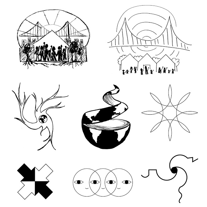 Several hand-drawn images
